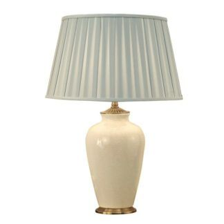 Mała lampa stołowa Ryhall - Interiors - kremowa ceramika