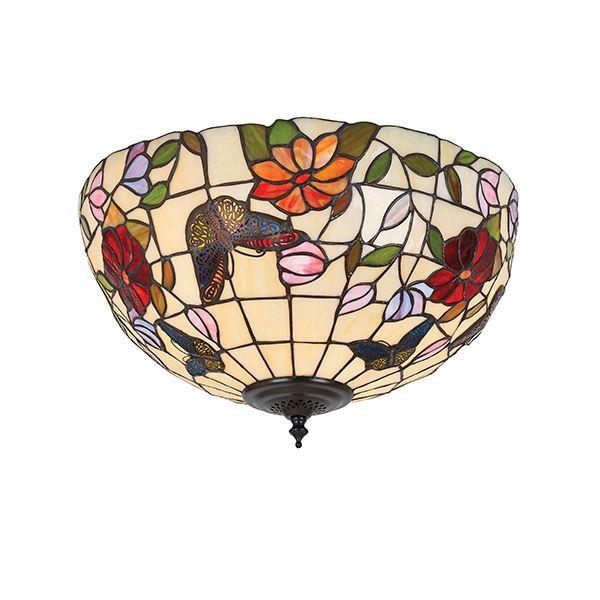 Mała lampa sufitowa Butterfly - Interiors - szklana
