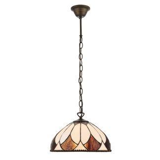 Mała lampa wisząca Aragon - Interiors - witrażowy klosz