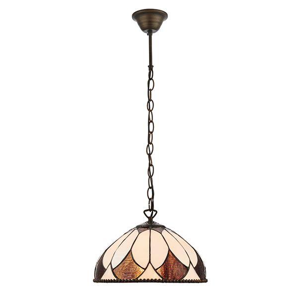 średniej wielkości szklana lampa wisząca