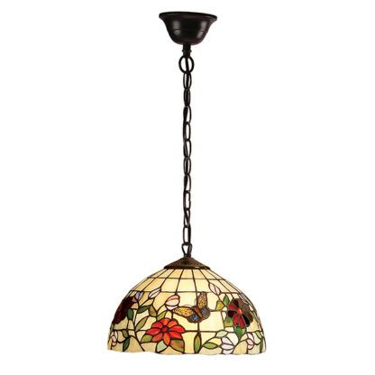 Mała lampa wisząca Butterfly - Interiors - szkło, metal