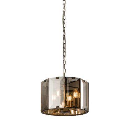 Mała lampa wisząca Clooney - Endon Lighting - szklana
