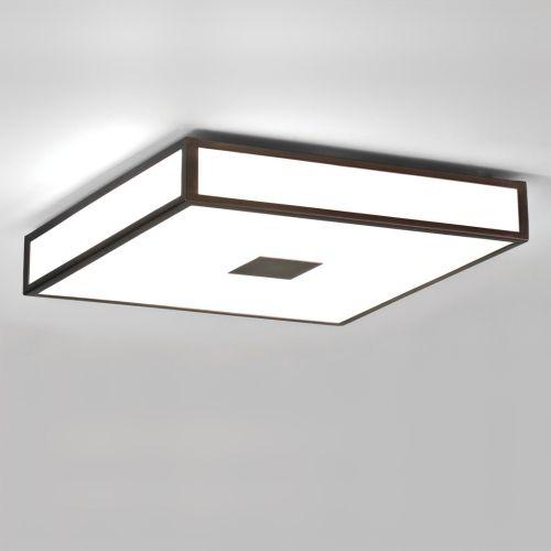 geometryczny plafon biało-brązowy