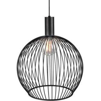 Metalowa lampa Aver 50 - DFTP - Nordlux - czarny, kulisty klosz