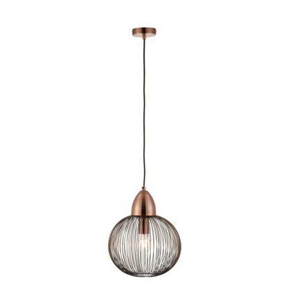 Metalowa lampa Nicola - Endon Lighting - ażurowa - miedź