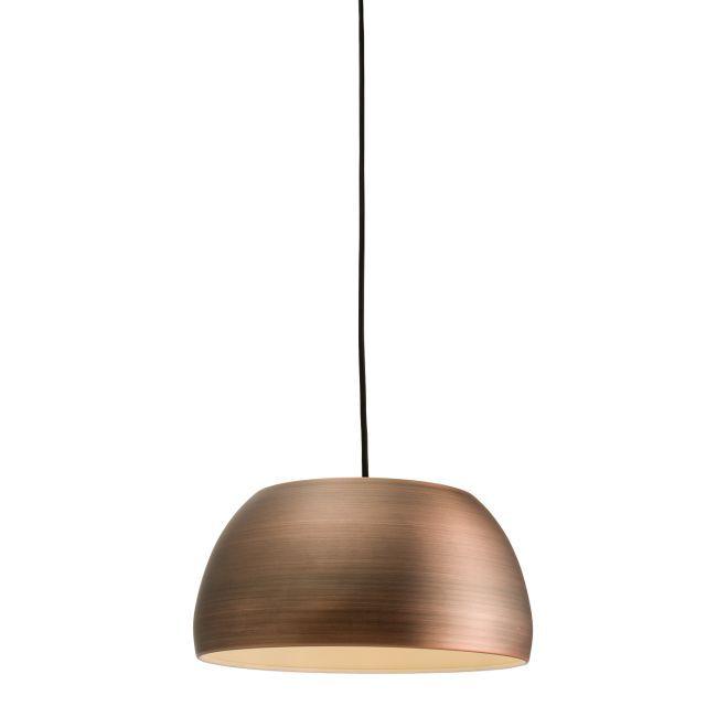 Metalowa lampa wisząca Connery - Endon Lighting - brązowa, mat