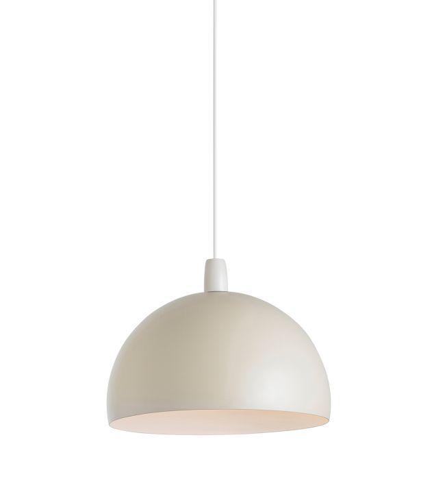 Metalowa lampa wisząca Newsome - Endon Lighting - kremowy mat