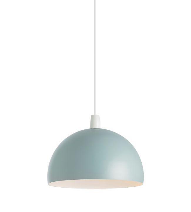 Metalowa lampa wisząca Newsome - Endone Lighting - kulisty klosz, mat