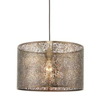 Metalowa lampa wisząca Secret Garden 40 - Endon Lighting - ażurowa