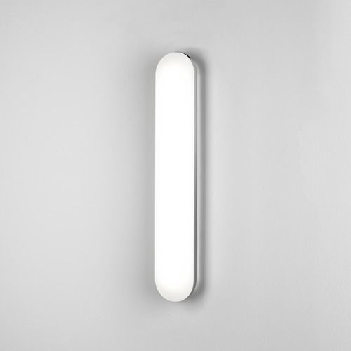 nowoczesny kinkiet z mlecznego szkła, biały