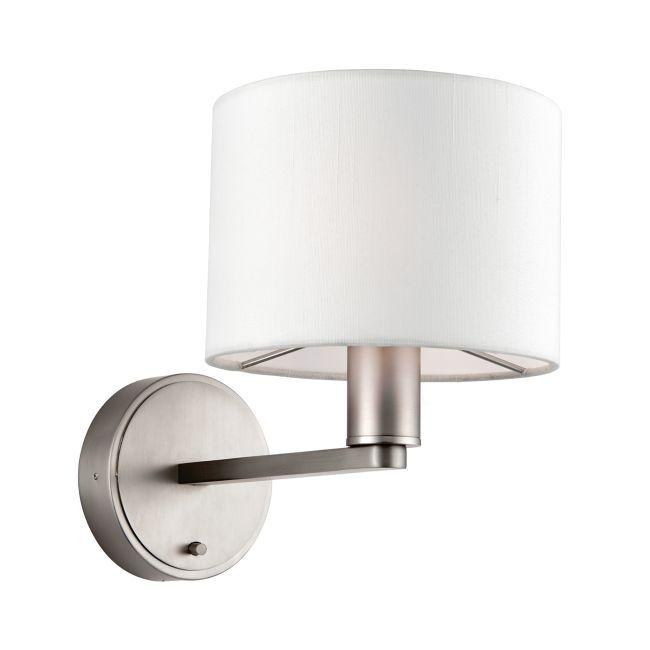 Minimalistyczny kinkiet Daley - Endon Lighting - srebrny, biały