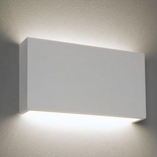 Minimalistyczny kinkiet z gipsu Rio 325 LED - Astro Lighting - biały