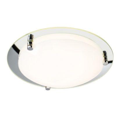 Minimalistyczny plafon Foster 30 - Endon Lighting - szklany