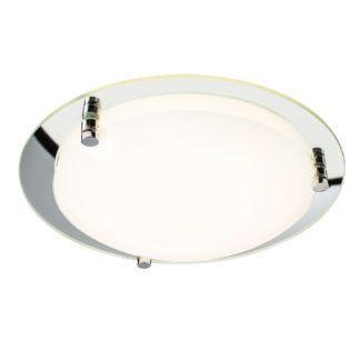 Minimalistyczny plafon Foster 40 - Endon Lighting - szklany