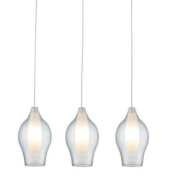 Lampa wisząca szklana - Miranda - Zuma Line - biała