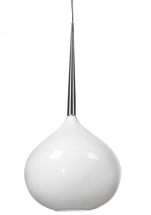 Lampa wisząca - Musca - Zuma Line - szklana, biała