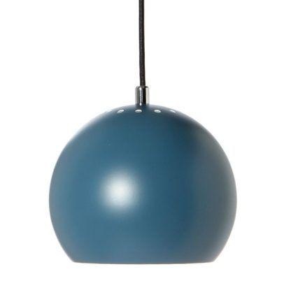 Niebieska lampa wisząca Ball Pendant - Frandsen Lighting - kula