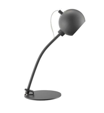 Nowoczesna lampa biurkowa Ball - Frandsen Lighting - szara - matowa
