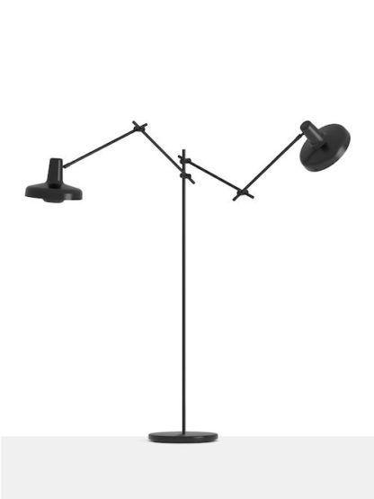 Nowoczesna lampa podłogowa Arigato Floor 2 black - Grupa Products