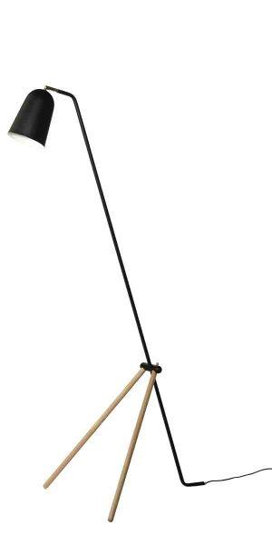 Nowoczesne trójnogi - czarna lampa podłogowa - Giraffe Frandsen