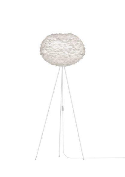 Nowoczesna lampa podłogowa - trójnóg - Eos Light Large - biała