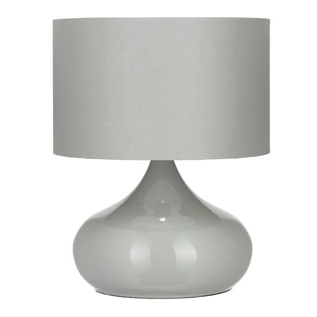 Nowoczesna lampa stołowa - Homerton - Endon Lighting - szara, szklana