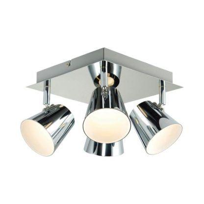 Nowoczesna lampa sufitowa Torsion - Endon Lighting - srebrna, metalowa