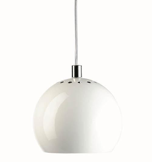 Nowoczesna lampa wisząca - Ball - połysk biała - Frandsen Lighting