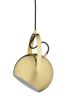 Nowoczesna lampa wisząca Ball - Frandsen Lighting - kula - mosiądz