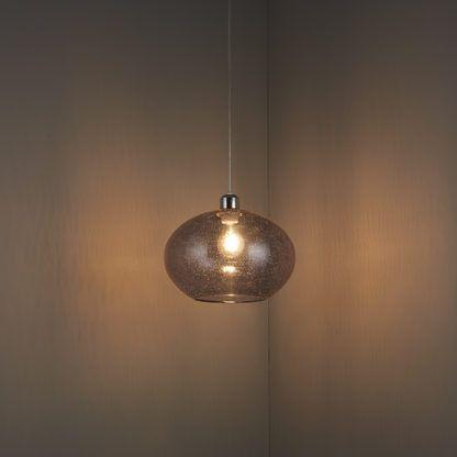 lampa wisząca szklana kula bezbarwna, styl nowoczesny