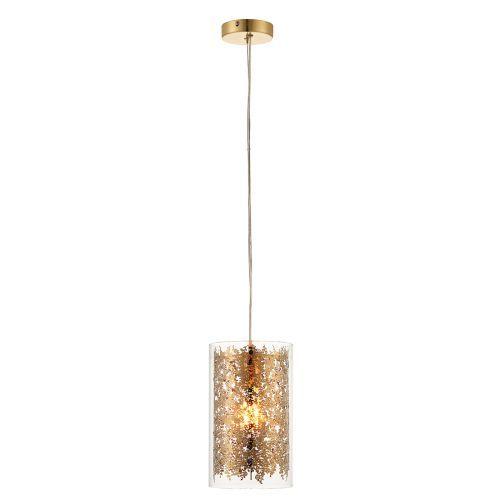 Nowoczesna lampa wisząca Lacy - Endon Lighting - szklana, złota