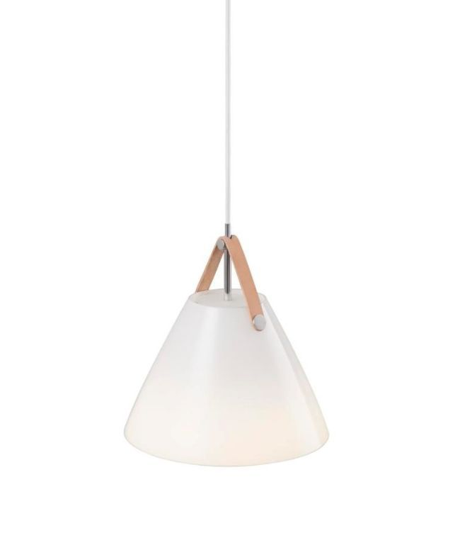 biała lampa lakierowana, styl nowoczesny - aranżacja salon szarość