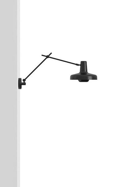 lampa ścienna w stylu skandynawskim, czarny mat - aranżacja gabinet nowoczesny