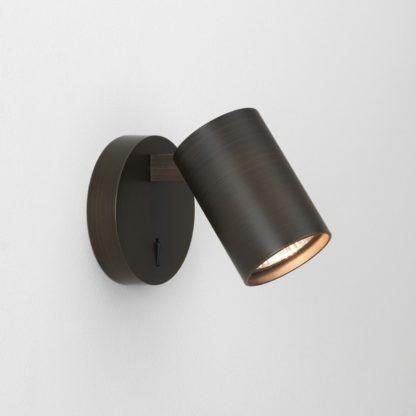 Kinkiet Ascoli Single Switched - Astro Lighting - brązowy, metal