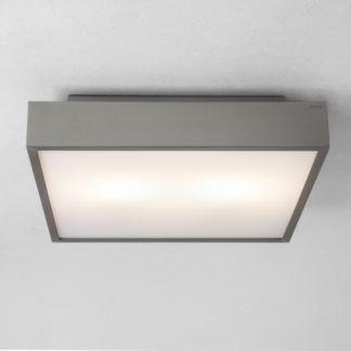 Nowoczesny plafon Taketa LED - Astro Lighting - szklany srebrny