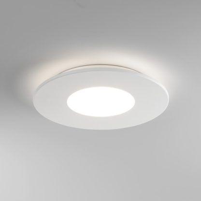 Nowoczesny plafon - Zero Round LED - biały