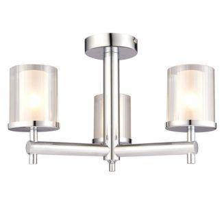 Nowoczesny żyrandol Britton - Endon Lighting - 3 żarówki - chrom, szkło