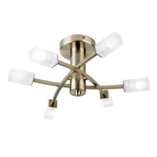 Nowoczesny żyrandol Havana - Endon Lighting - 6 żarówek - złoty