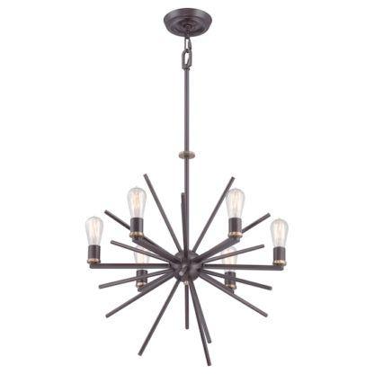 Nowoczesny żyrandol - Sputnik - wiszący brązowy