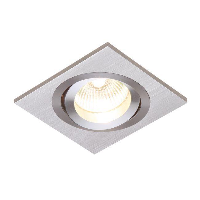 Oczko sufitowe Tetra Single - Saxby Lighting - srebrne
