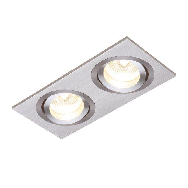 Oczko sufitowe Tetra Twin - Saxby Lighting - srebrne