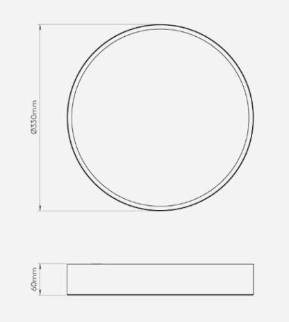 nowoczesny plafon, okrągły klosz