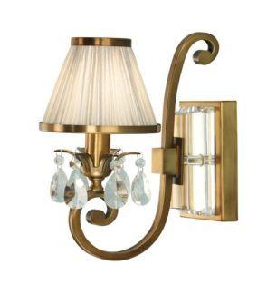 Lampa ścienna Oksana - Interiors - kryształy, złota