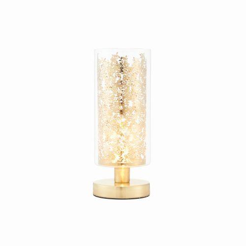 złota lampa stołowa w nowoczesnym stylu
