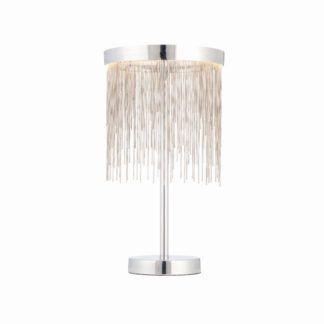 Oryginalna lampa stołowa Zelma - Endon Lighting - srebrna