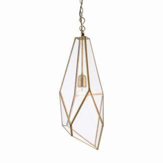 Oryginalna lampa wisząca Avery - Endon Lighting - mosiądz, szkło