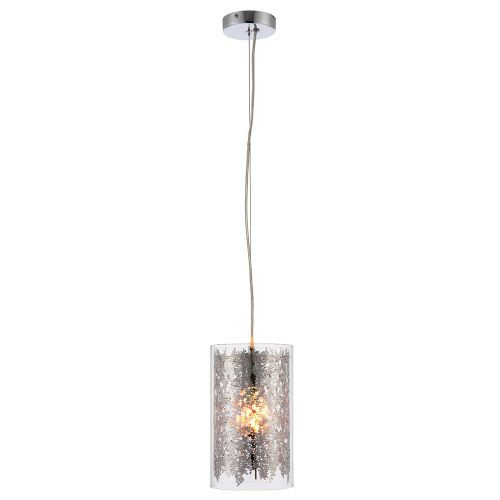 Oryginalna lampa wisząca Lacy - Endon Lighting - szklana, srebrna