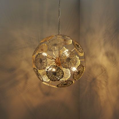 Oryginalna lampa wisząca Nuphar - Endon Lighting - mosiądz