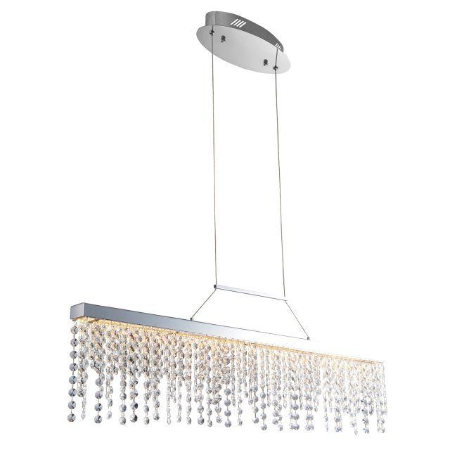 Oryginalna lampa wisząca Redford - Endon Lighting - chrom, szkło