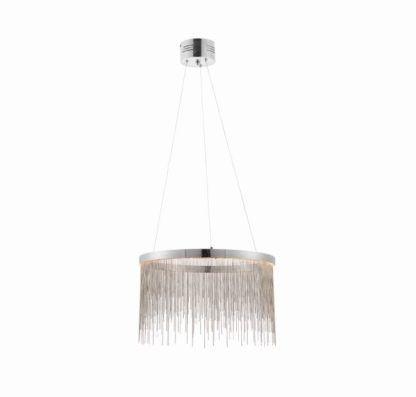 Oryginalna lampa wisząca Zelma - Endon Lighting - srebrna
